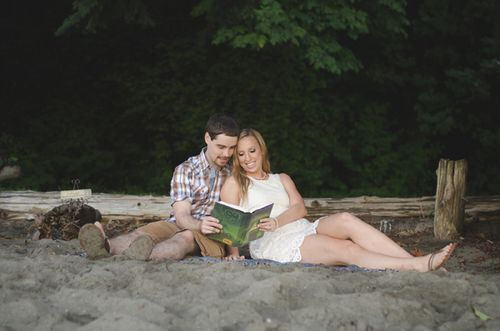 A Casual Beach Engagement Session in Gig Harbor, Washington