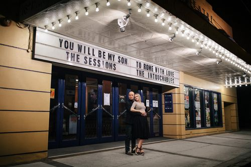 Movie Theater Engagement Session