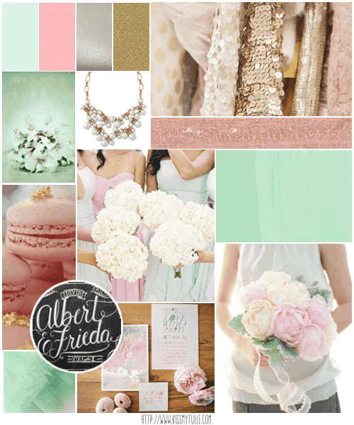 Wedding Candy: Modern Mint Green and Blush Pink Wedding Inspiration