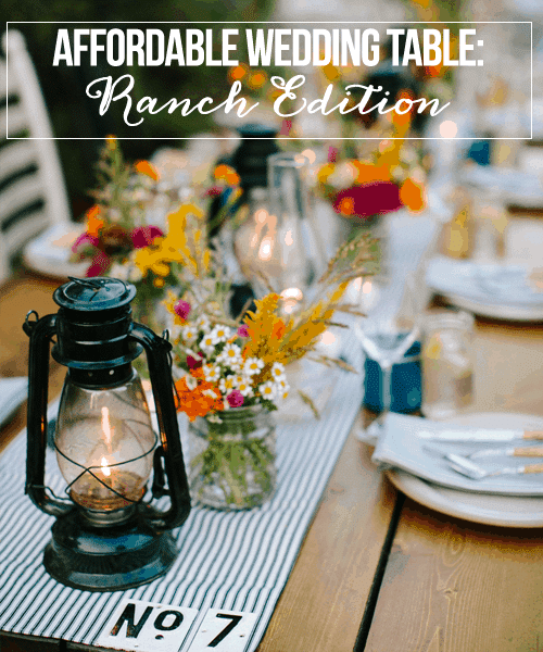 Affordable Wedding Table: Ranch Edition