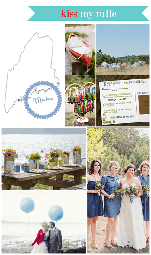 Maine State Wedding Inspiration