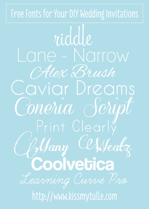 Great Free Fonts for DIY Wedding Stationery