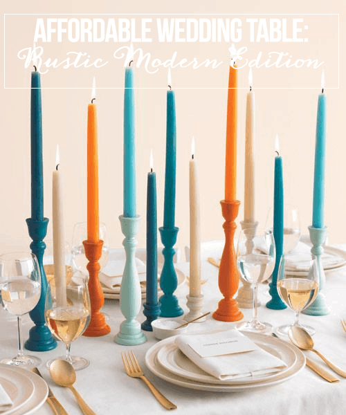 Affordable Wedding Table: Rustic Modern Edition