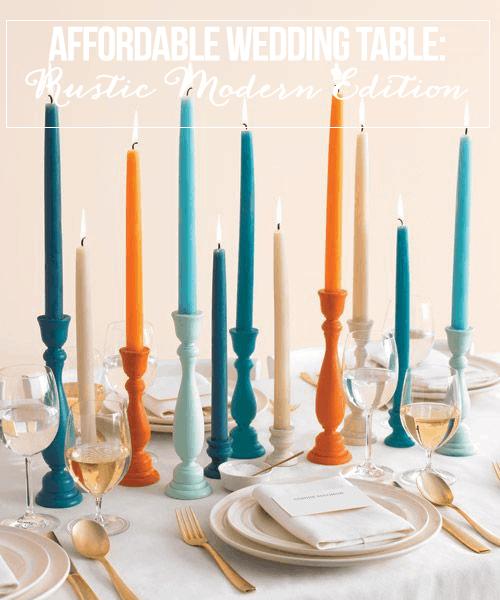 Affordable Wedding Table: Rustic Modern Edition