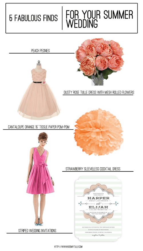 5 Fabulous Finds for Your Summer Wedding