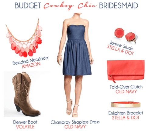 Budget Cowboy Chic Bridesmaid Look