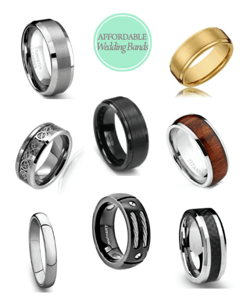 Affordable Wedding Bands for the Groom - All for Under $30.00!