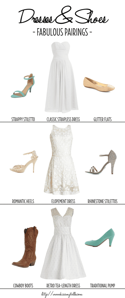 Fabulous Pairings for Wedding Dresses and Shoes