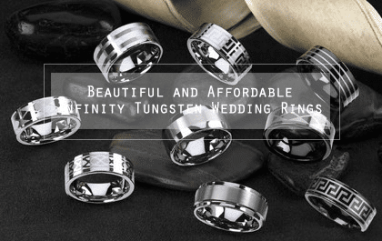 Partnered Post: Beautiful and Affordable Infinity Tungsten Wedding Rings