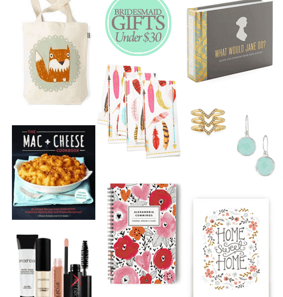 Great Bridesmaid Gifts for Under $30