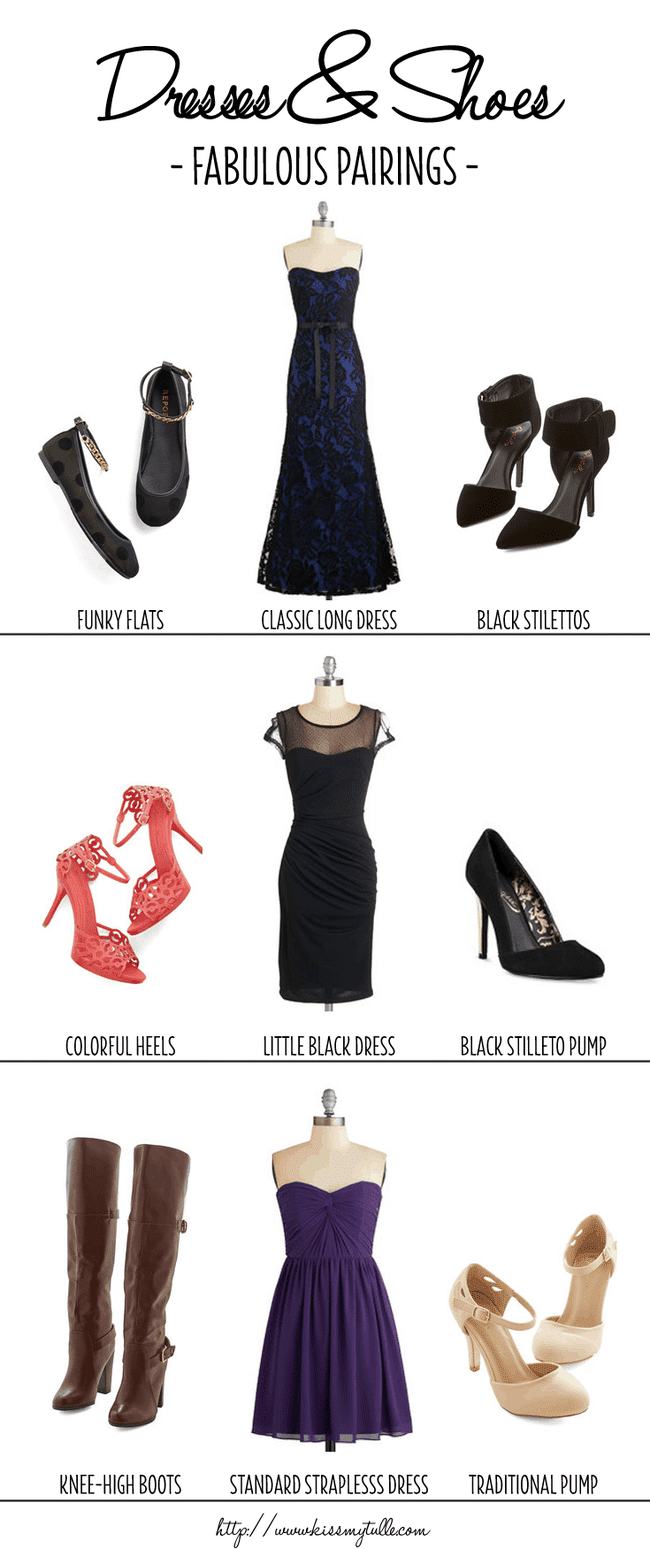 Fabulous Pairings for Bridesmaid Dresses and Shoes