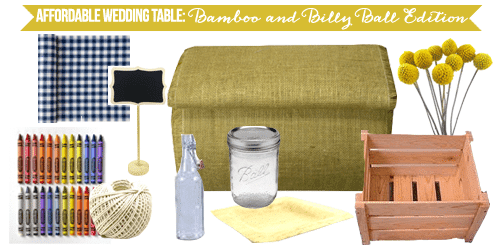 Affordable Wedding Table Breakdown: Bamboo and Billy Balls