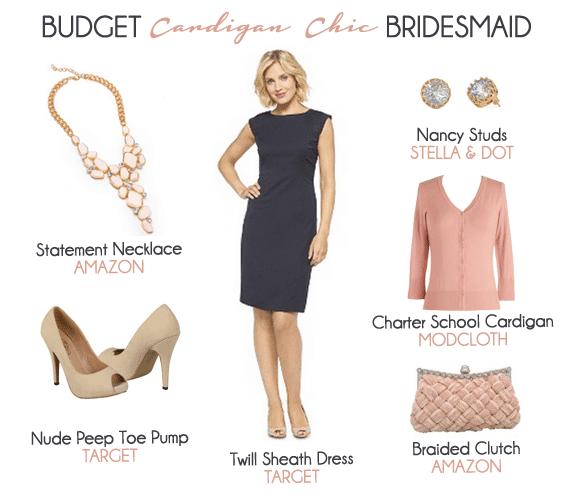 Budget Cardigan Chic Bridesmaid Look