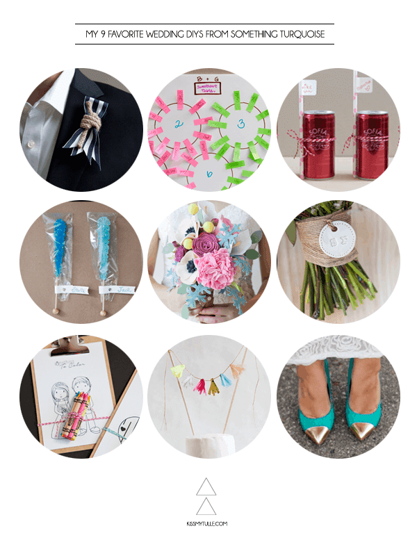 My 9 Favorite Wedding DIYs from Something Turquoise
