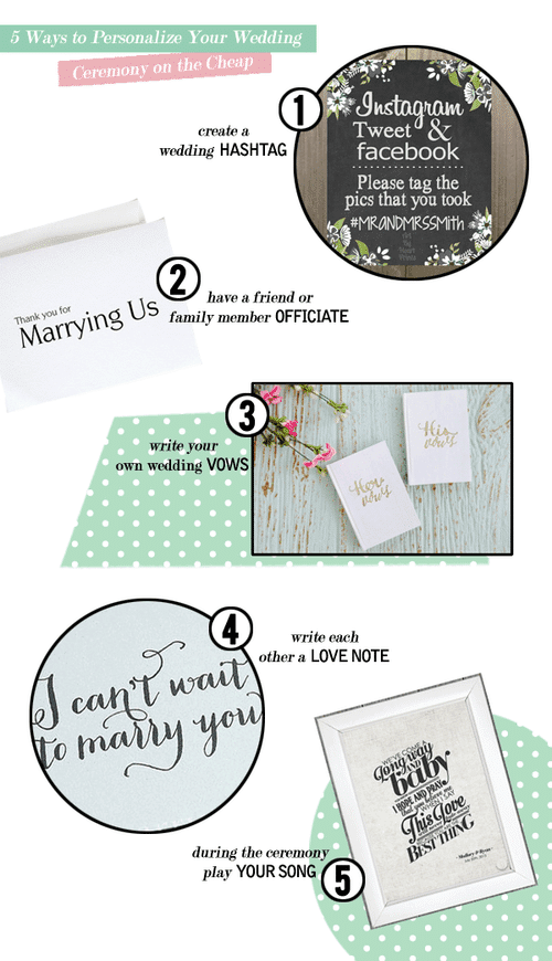 5 Ways to Personalize Your Wedding Ceremony on the Cheap