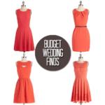 Budget Wedding Finds: Orange Dresses and Shoes