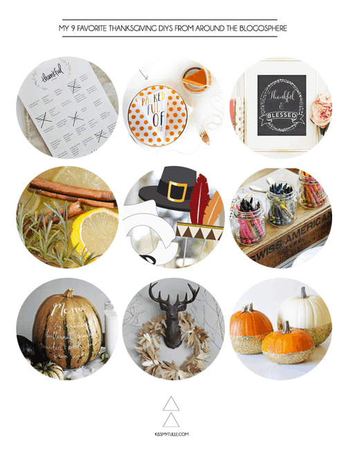 My 9 Favorite Thanksgiving DIYs from Around the Blogosphere