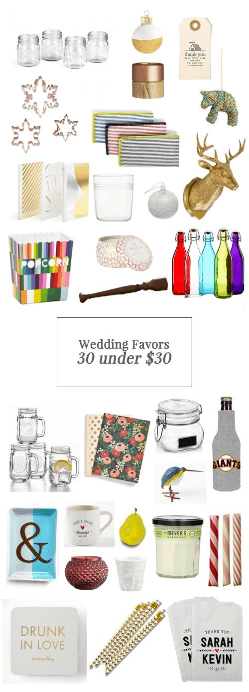 30 Wedding Favors for Under $30