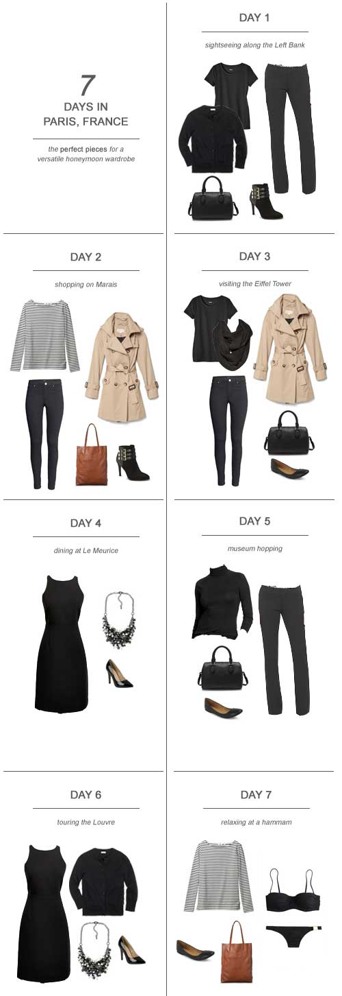 7 Days in Paris, France : The Perfect Pieces for a Versatile Honeymoon Wardrobe