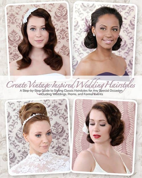 Do you LURVE those chic do's from the Jazz Age? Do you hope to rock a vintage pin-up look on your wedding day? Then you absolutely want to enter to win a copy of the book Create Vintage-Inspired Wedding Hairstyles by hairstylist and author Lauren Rennells!