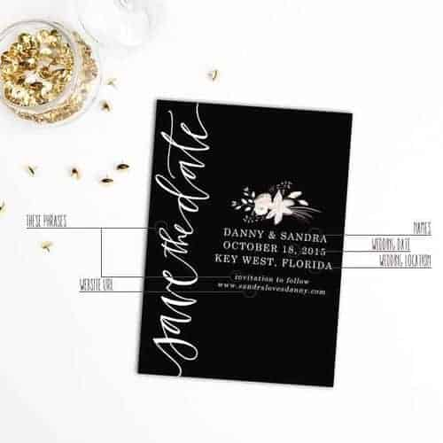 The Only 5 Things That Need To Be On Your Save-The-Dates + A Free Desktop Wallpaper from West Sheridan