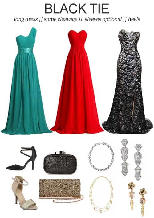 Wedding Dress Codes Decoded: Black Tie || It can be tricky to try and figure out exactly how to dress appropriately for a wedding. So, here's a little help.