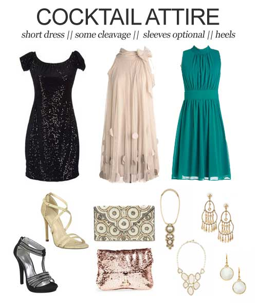 Wedding Dress Codes Decoded: Cocktail Attire    It can be tricky to try and figure out exactly how to dress appropriately for a wedding. So, here's a little help.