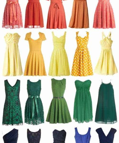 A Rainbow of Affordable Bridesmaid Dresses
