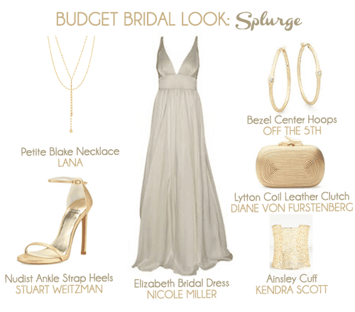 If you're looking for a super chic and gorgeous beach bridal look and want to splurge - check this out.