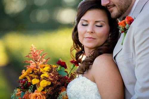 Jamie and Doug's handmade wedding in Plant City, Florida was a gorgeous fall affair with loads of thoughtful touches. | Darin Crofton Photography