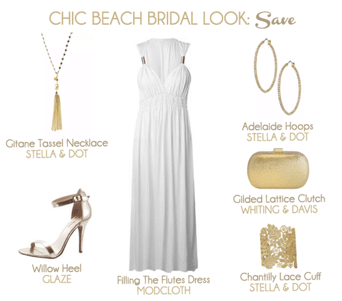 If you're looking for a super chic and gorgeous beach bridal look and want to save - check this out.