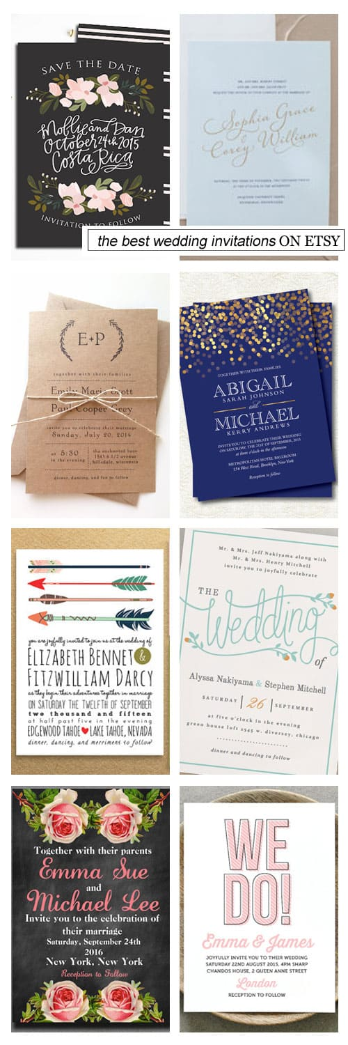 The Best Wedding Invitations on Etsy