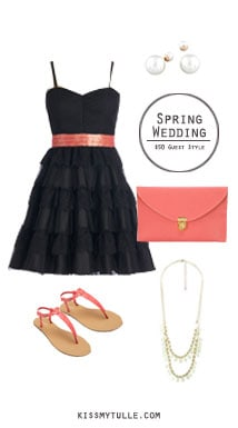 If you're attending a spring wedding (or engagement party), it can be difficult to find an outfit to wear that's also affordable. || Spring Wedding Guest Style for $50