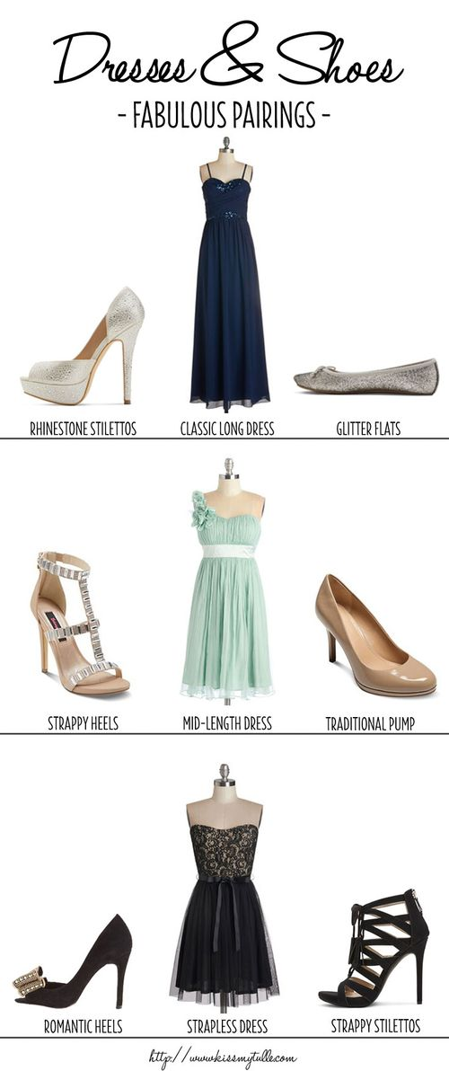 Fabulous Pairings for Bridesmaid Dresses and Shoes || Kiss My Tulle