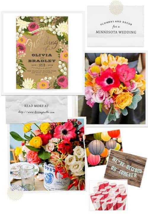 Check out these suggestions for flowers and decor for a Minnesota wedding    Kiss My Tulle