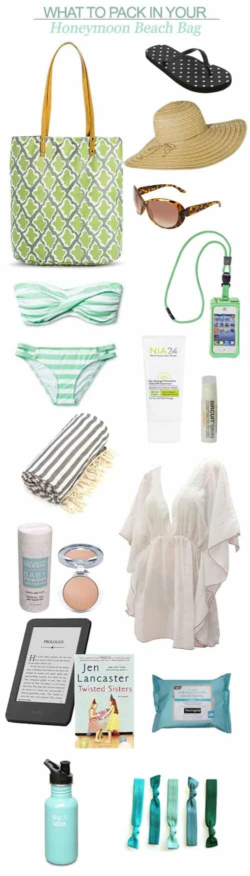 What to Pack in Your Honeymoon Beach Bag || Kiss My Tulle