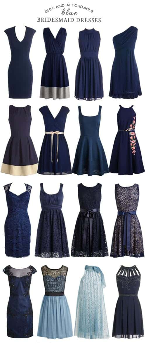Chic and Affordable Blue Bridesmaid Dresses