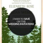 5 Ways to Save on the Wedding Invitations