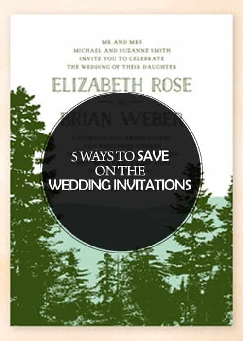 5 Ways to Save on the Wedding Invitations || Kiss My Tulle
