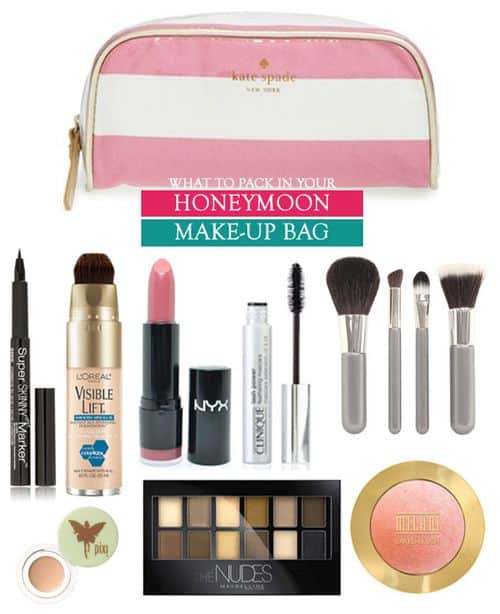 What to Pack in your Honeymoon Make-Up Bag || Kiss My Tulle