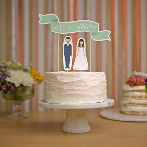 My 9 Favorite Wedding Cake Toppers from Etsy || Ready Go