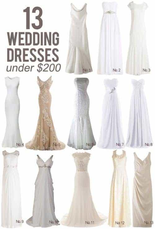 13 Wedding Dresses Under $200    Kiss My Tulle