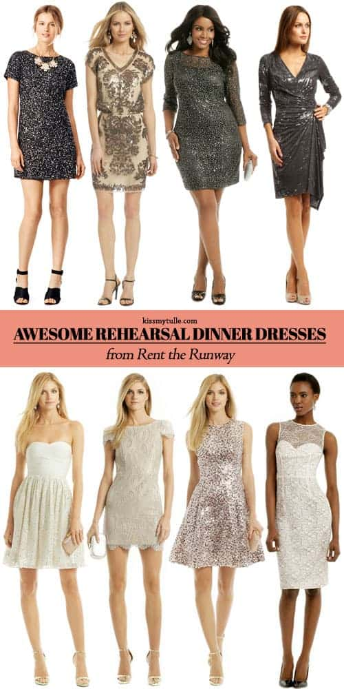 Awesome Rehearsal Dinner Dresses from Rent the Runway || Kiss My Tulle