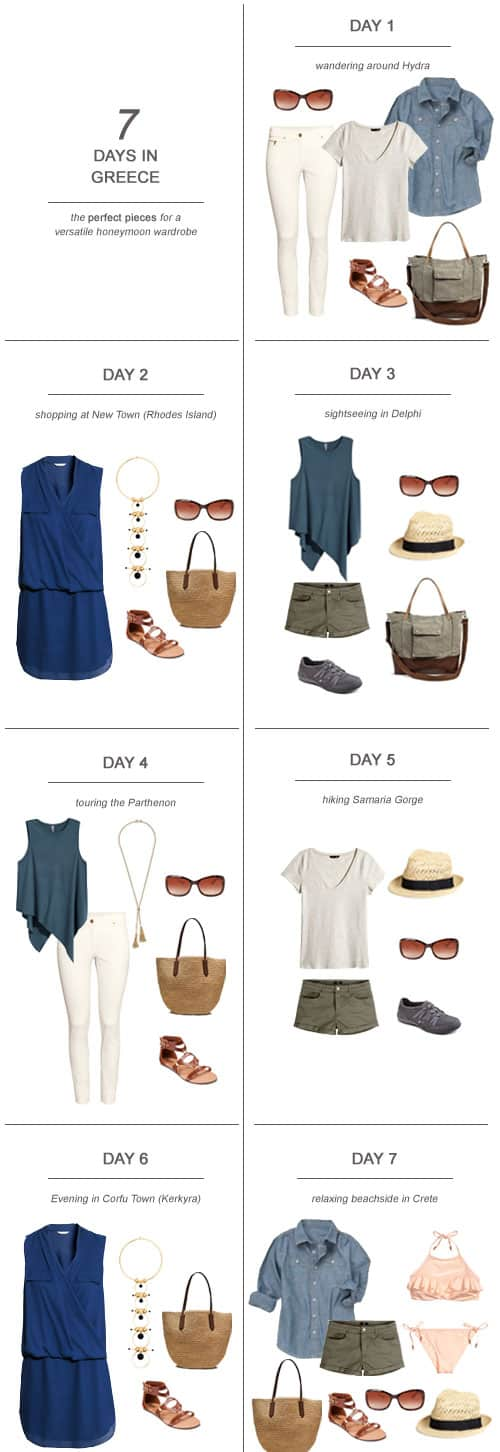 7 Days in Greece : The Perfect Pieces for a Versatile Honeymoon Wardrobe