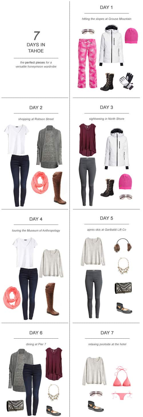 7 Days in Vancouver : The Perfect Pieces for a Versatile Honeymoon Wardrobe