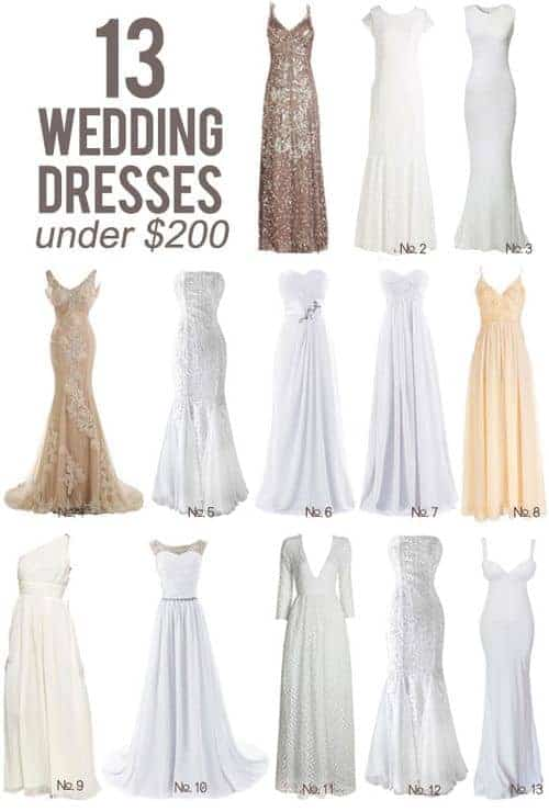 13 Wedding Dresses Under $200