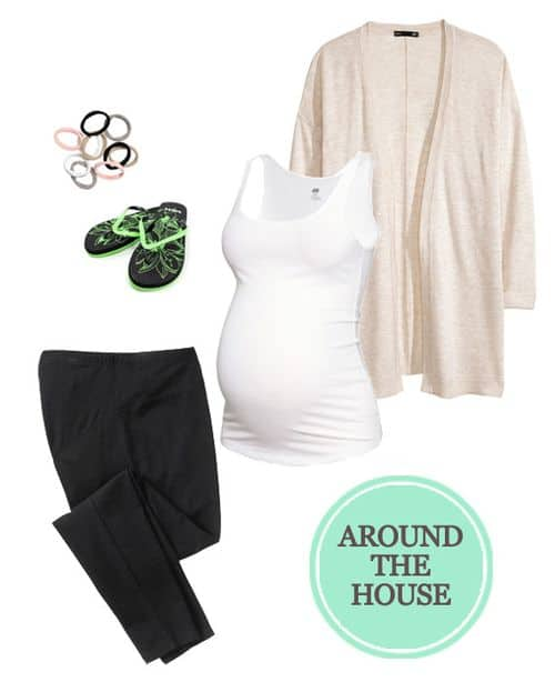 My Favorite Maternity Outfits for the Second Trimester: For Around The House #pregnancy #baby #maternity #ootd