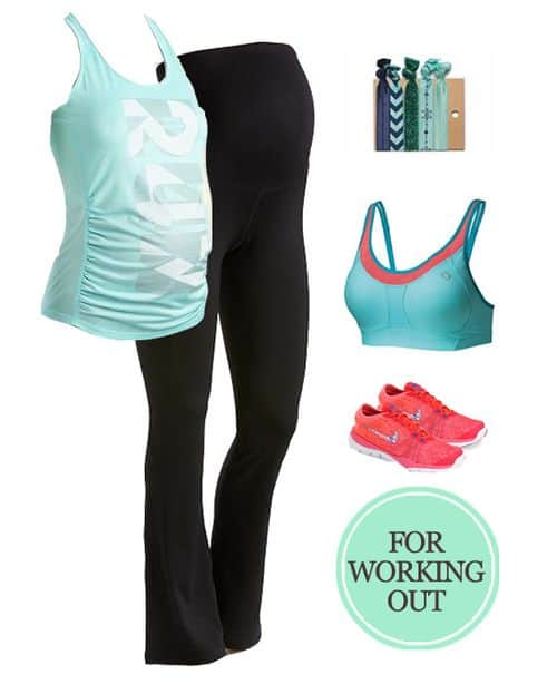 My Favorite Maternity Outfits for the Second Trimester: For Working Out #pregnancy #baby #maternity #ootd