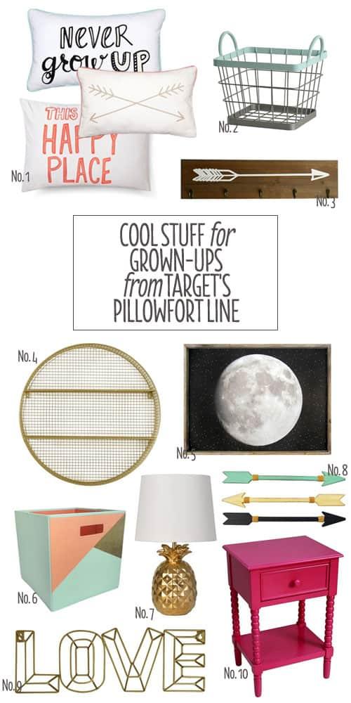 Cool Stuff for Grown-Ups from Target's pillowfort Line #shopping #homefurnishings #home #homedecor #decor