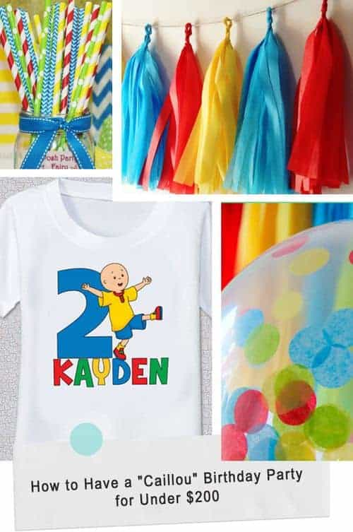 How to Have a Caillou Birthday Party for Under $200 #toddler #kid #birthday #party
